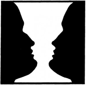 Фигура и фон: ваза или два профиля